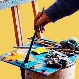 malowanie obrazu do teczki do plastyka